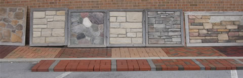Part of Our Outdoor Brick, Block, and Stone Showroom